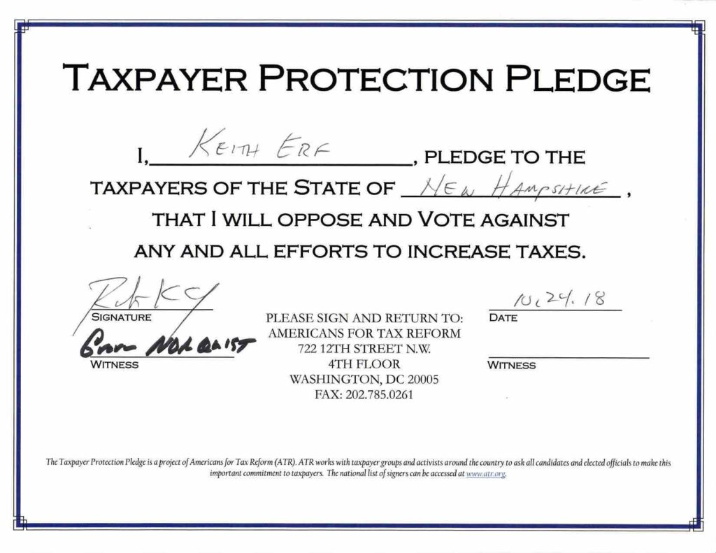 Americans for Tax Reform Pledge
